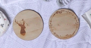 personalized wooden disc name announcement for babies birth