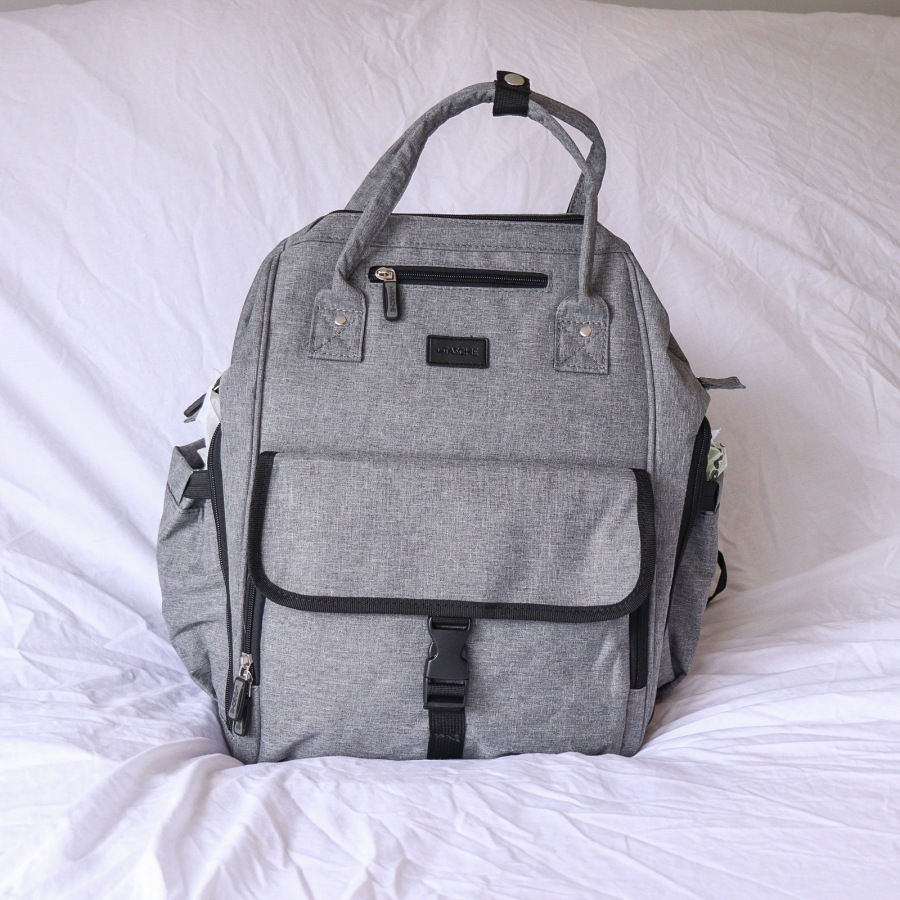 brands4kids latasche nappy bag backpack in grey