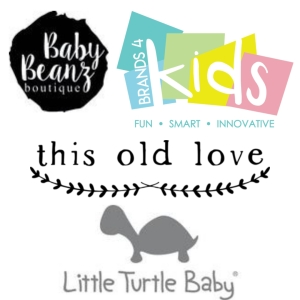 logos of business providing discount code for baby items